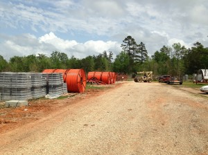 Hunt Telecom / Bayou Internet Fiber Work Yard